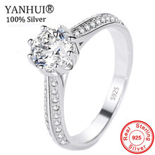 YANHUI Luxury 100% Solid 925 แหวน(China)