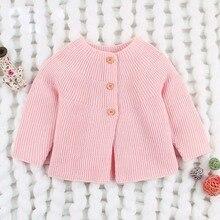 2020 Spring Autumn Baby Girls Sweater Cardigans Long Sleeve Newborn Kni