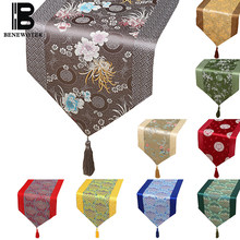 Chinese Traditional Handmade Silk Brocade Table Runner Vintage Table Cloth Tea Ceremony Pad Wedding Home Hotel Villa Decoration(China)