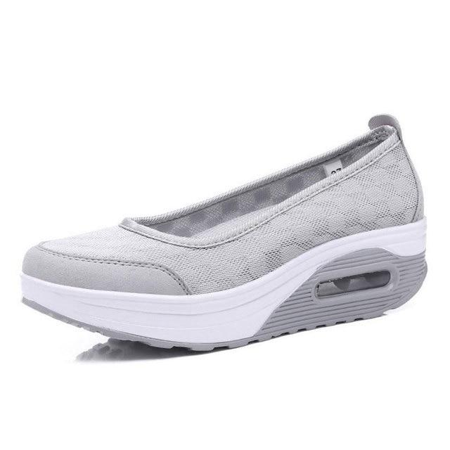 bc3cd2543abe2 Alpargatas 2017 Nuevas Mujeres de la Llegada Zapatos Cómodos Zapatos Para  Caminar de Fitness Saludable Para