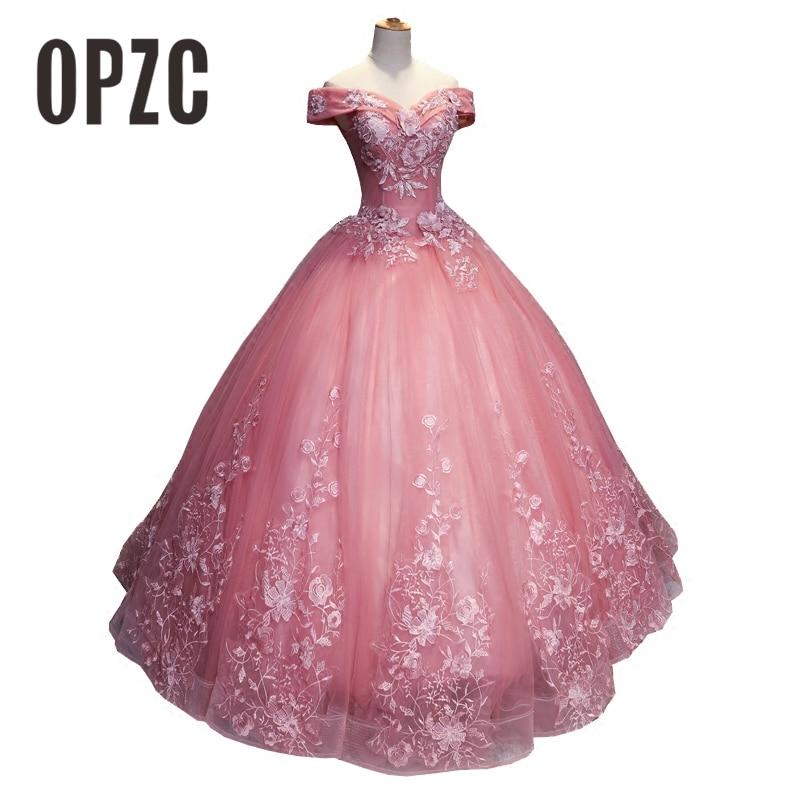 Fashion Off the shoulder 2018 New Quinceanera Dresses appliques Elegant Beautiful Vestidos De Party Prom Formal