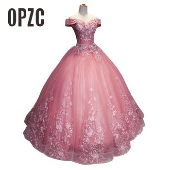 Fashion Off the shoulder 2018 New Quinceanera Dresses appliques Elegant Beautiful Vestidos De Party Prom Formal Floral Print 35%