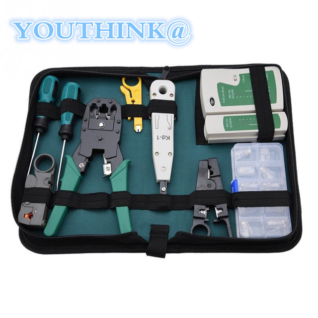 US $36 99 |Universal Network Service Kit 12 in 1 Network Computer Repair  Repair Tool Network Tester Kit Combination Kit Free Shipping-in Networking