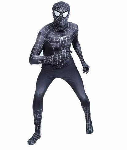 Spiderman Costume 3D Printed Spandex Fullbody Superhero Bodysuit Halloween Party Costume Custom Made Available
