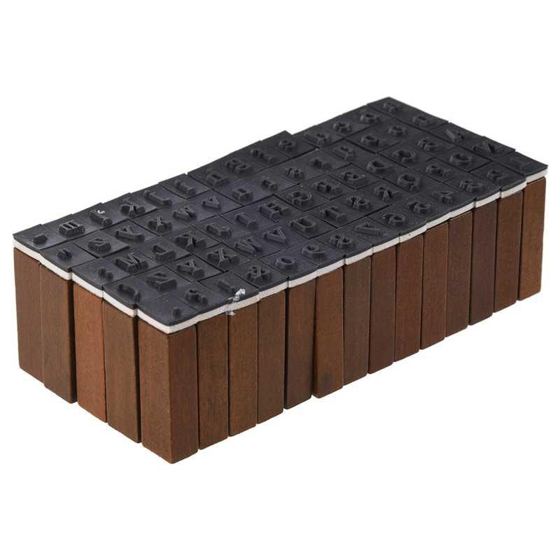 Набор из 70 шт. набор резиновых штампов Старинная Деревянная Коробка Чехол из числа буквы алфавита ремесло (без использования чернил в комплекте)
