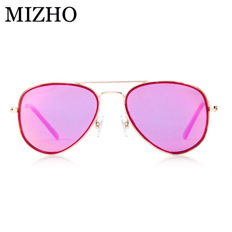 MIZHO 17G Light Weight Superstar Aviadors RED Children Sunglasses Kids Polarized Boys UV Protection Glasses Girl High Quality