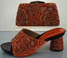 Italienische Schuhe Und Passende Tasche Für Frau Hochzeit Schuh und Tasche High Heel Nigerianischen Partei Schuh Und Tasche Set ME2215