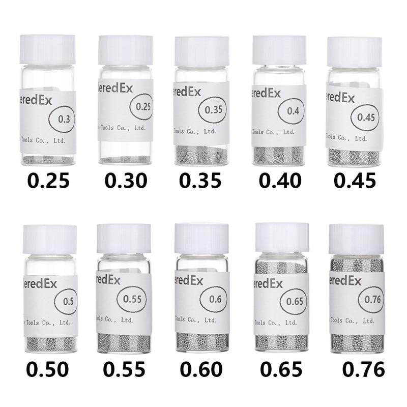 0.25 0.3, 0.4, 0.45, 0.5 10 Bottles//Lot Leaded BGA Reballing Solder Balls