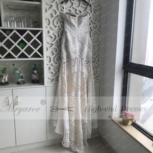 Image 4 - Mryarce 2019 Luxury Exclusive Lace Mermaid Wedding Dress Strapless Love Spell Boho Wedding Chic Bridal Gowns