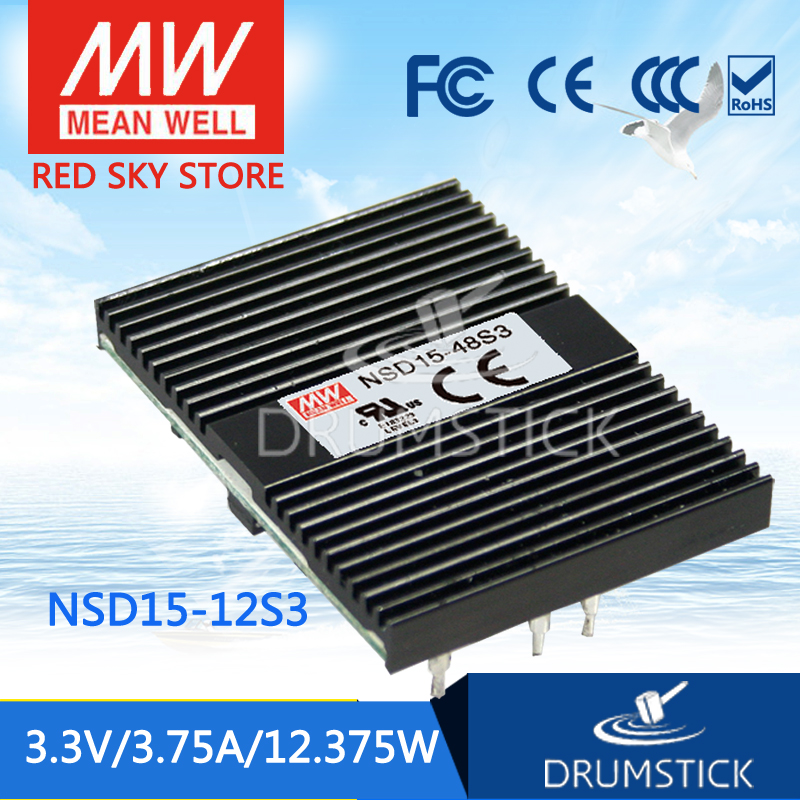 (Only 11.11)MEAN WELL NSD15-12S3 (12Pcs) 3.3V 3.75A meanwell NSD15 3.3V 12.375W DC-DC Regulated Single Output Converter(Only 11.11)MEAN WELL NSD15-12S3 (12Pcs) 3.3V 3.75A meanwell NSD15 3.3V 12.375W DC-DC Regulated Single Output Converter