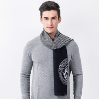 2017 New Men Boys Simple Plaid Scarf Father Luxury Cashmere Warm Autumn Winter Scarves Male Work Out Shawl Wrap Neckerchief
