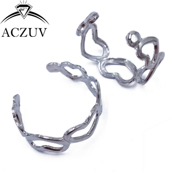 Rhodium Plated 200pcs 18mm Love Heart Adjustable Ring Jewelry Findings Accessories Free Shipping HRF005