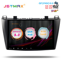 JSTMAX 9 Android 8.0 car dvd radio player for Mazda 3 2010 2011 2012 2013 2014 gps navi Octa Core 4GB 32GB Auto Stereo(NO dvd)