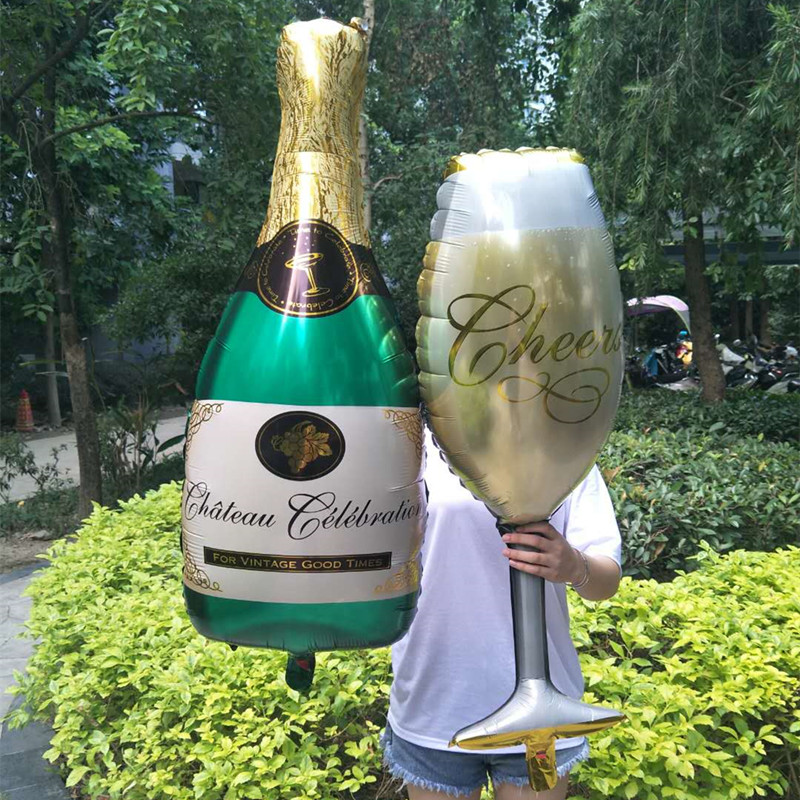 Champagne Cup Beer Bottle Aluminum Foil Balloons Wedding Decoration Balloon Birthday Party Decorations Kids Bachelorette Party.J