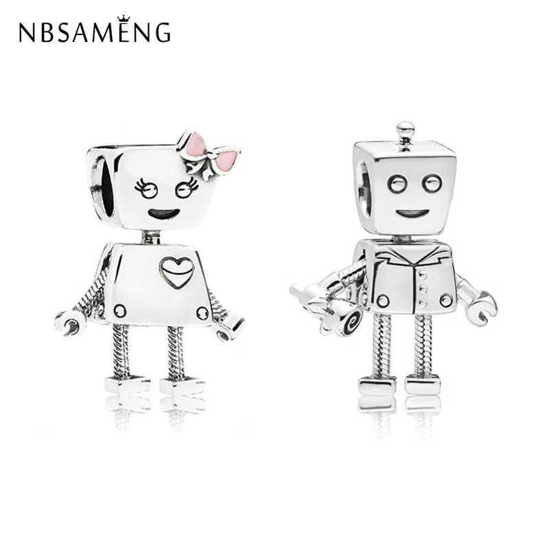Orijinal Gümüş Kaplama Boncuk Charm Akıllı Rob ve Bella Takılar Bot Fit Pandora Bilezik & Bileklik DIY Kadınlar Takı Yapımı 2018