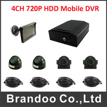 Car Video Recorder With 4CH AHD night vison camera HDD Mdvr kit for bus truck van taxi shcool bus