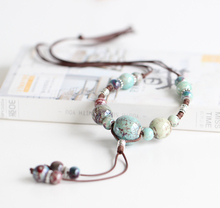 DIY Ceramic Necklace for Women Girl Fashion Jewelry Charm Strand Pendant Necklace Rope Chain Colorful Beads 2016 Spring Autumn