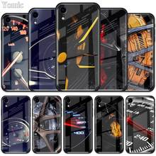 Car Tire Wheel Dashboard Tempered Glass Case for Apple