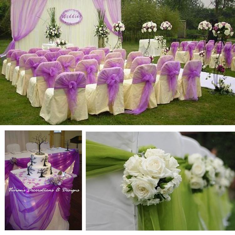 Wedding Decoration 75cm Wide Sheer Mirror Organza Fabric Tulle Roll