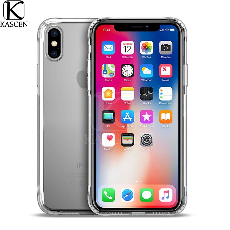 KASCEN Airbag Protective Phone Cases For iPhone XR XS Max X Silicone Soft Transparent Cover Shell