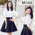 Тан Янь с новой весны и лета 2016 и пять чистый темперамент воланами юбка рукавом из двух частей