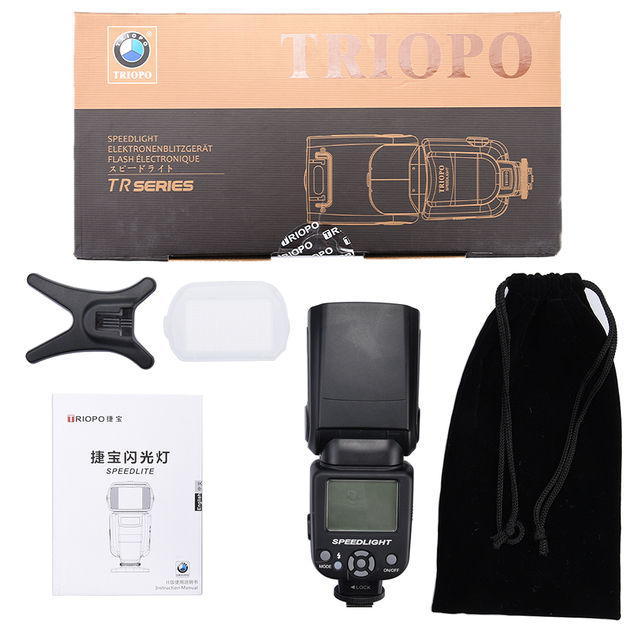 New Triopo TR-950 Flash Light Speedlite Universal For Fujifilm Olympus nikon d3400 Canon 650D 550D 450D 1100D 60D 7D 6D Cameras