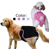 Hot 2016 New Pet Care Supplies Female Dog Flower Print Sanitary Physiological Pants Diaper Underwear Mini