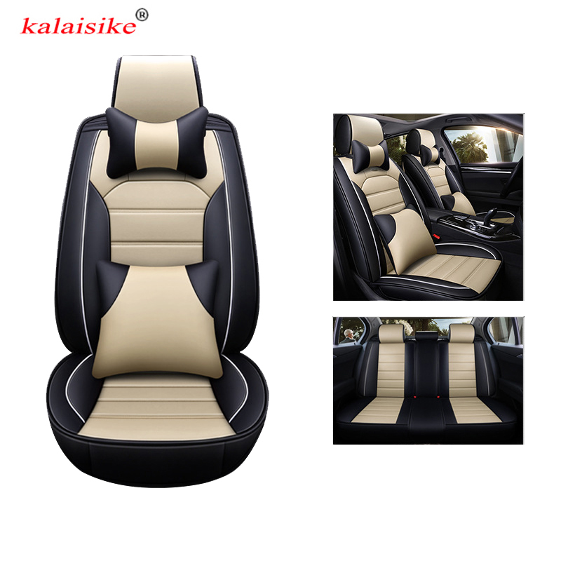 kalaisike universal car seat covers for Nissan all models note juke x-trail leaf teana tiida altima qashqai almera auto styling