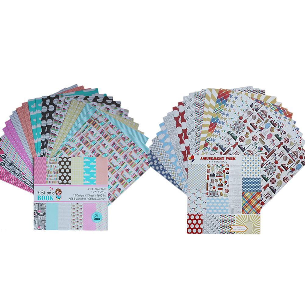24pcs diy album scrapbooking planner card making
