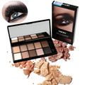 Daily Stage Makeup 10 Shimmer Giltter Matte Smoky Eyeshadow Palette Neutral Nude Earth Eye Shadow Makeup Palette With Brush