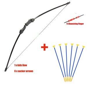 Image 1 - Junxing Рекурсивный лук 15 ~ 20 фунтов, игрушечный лук и стрелы, Молодежный Набор для стрельбы из лука и стрелы, детский лук