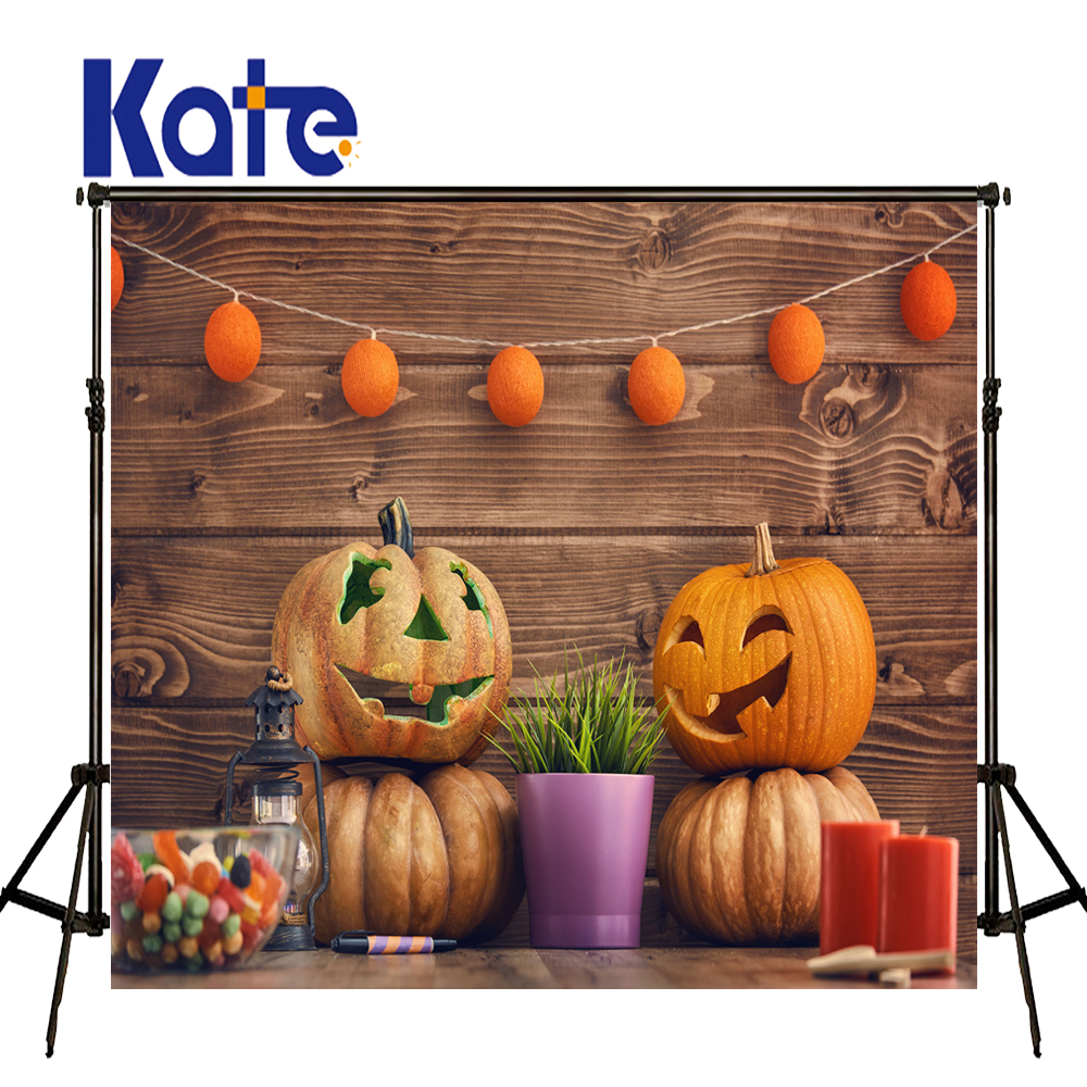 KATE Photography Backdrops Halloween Pumpkin Background Soild Wood Wall Backdrop Children Photo Background Newborn Photo Studio allenjoy background for photo studio full moon spider black cat pumpkin halloween backdrop newborn original design fantasy props