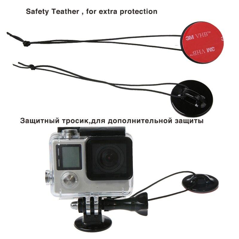 Image 2 - Передняя сторона шлем аксессуары набор j образная Пряжка база Поддержка крепление для GoPro Hero 5 6 7 4 Xiaomi Yi 4K SJCAM Go Pro наборы-in Чехлы для спортивных видеокамер from Бытовая электроника