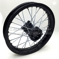 Rear Rims 14inch Aluminum Alloy Disc Plate Wheel Rims 1.85x14inch for Chinese dirt bike pit bike wheel spare parts