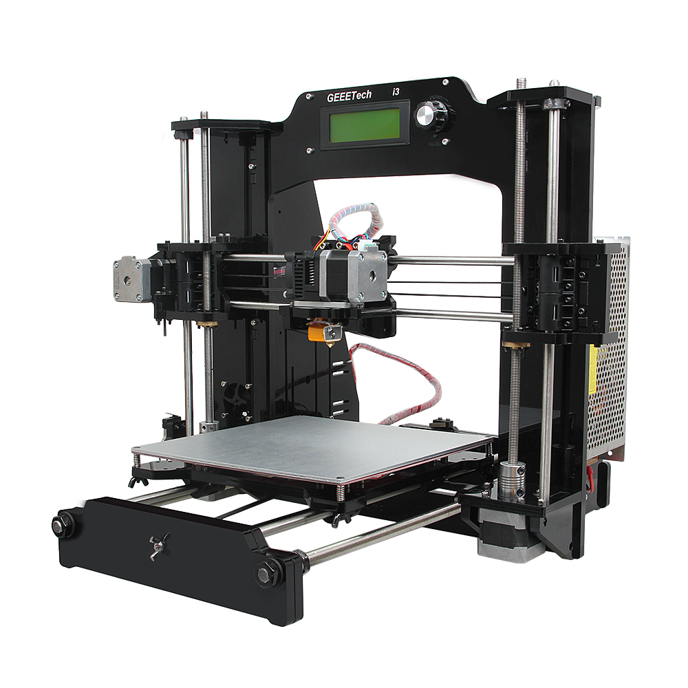 Geeetech Newest 3D Printer Reprap Prusa i3-X DIY Kit Acrylic Frame 6 Materials Support LCD Free