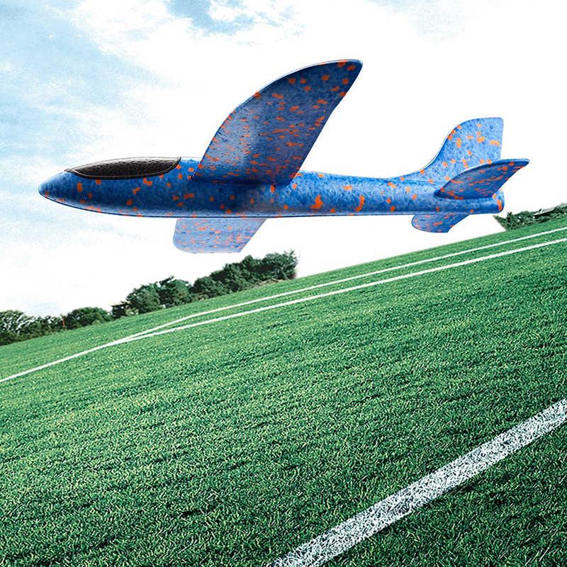 Ręczne rzucanie latające szybowce samoloty piankowe model samolotu odporne na EPP Breakout samoloty Party Game dzieci zabawy na świeżym powietrzu zabawki prezentowe