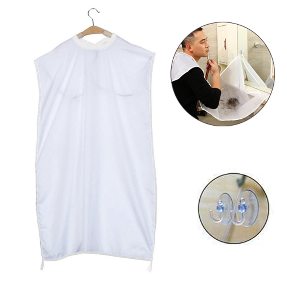 Bathroom clothes storage rack Apron For Man Shaving Hair Clippings Catcher Grooming Cape Apron Keep Sink Clean 2018
