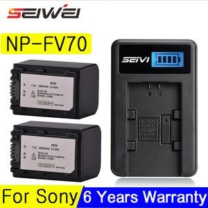 Para sony NP-FV70 lcd usb carregador + 1800 mah np fv70 câmera bateria para para fv30 HDR-CX230 HDR-CX150E HDR-CX170 cx300 z1 baterias