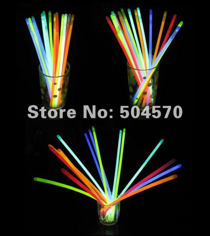 20 см 100 шт/партия рождественские концертные светящиеся палочки для праздника, светится в темноте светящаяся палочка, флуоресцентная палочка для свадебной вечеринки