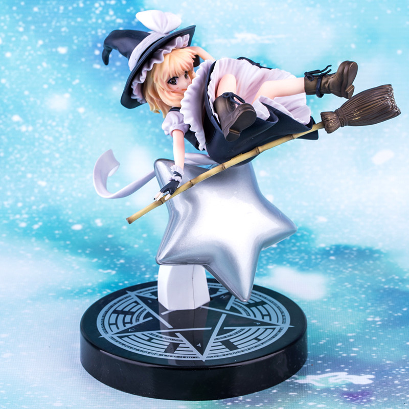 Anime Touhou Project Kirisame Marisa PVC Action Figure Collectible Model toy 23cm anime touhou project flandre scarlet cosplay costume custom any size halloween