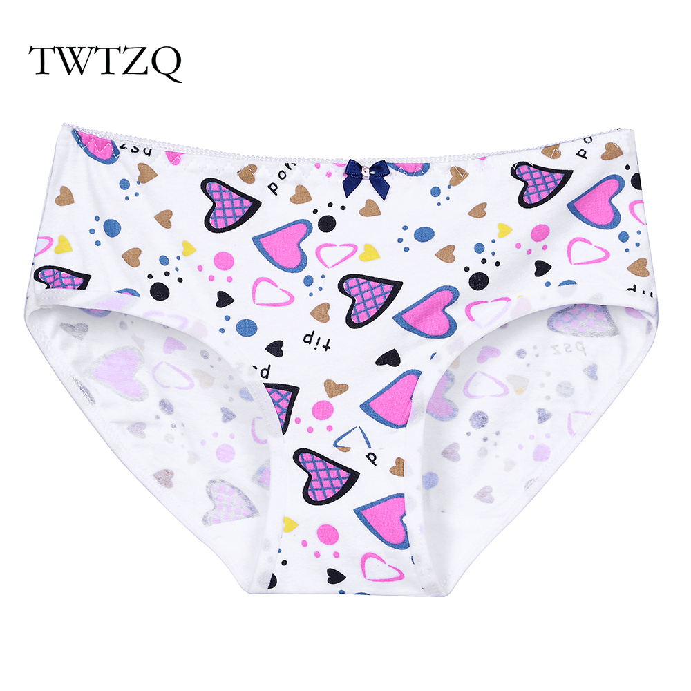 TWTZQ Fashion Heart Dots   Panties   Woman Underwear Women's Cotton Briefs Sexy Ladies Girls   Panties   Intimates Lingerie A3NK098