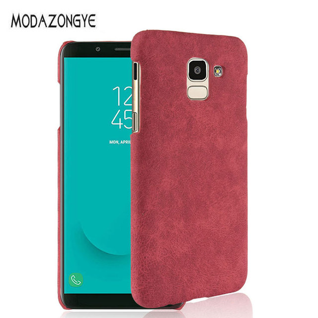 finest selection b2ee3 7ee8c US $2.39 40% OFF|For Samsung Galaxy J6 2018 Case Samsung J6 Case Luxury PU  Leather Hard Phone Case For Samsung Galaxy J6 SM J600F J600F J600-in Fitted  ...