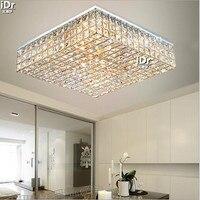 Sala de estar lâmpadas iluminação cristal quarto principal quadrado faróis atmosfera minimalista luzes teto Rmy-0491