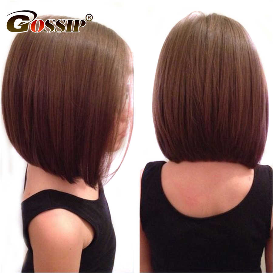 Malaysia Remy Straight Bob Wig 13x6 inch Part Short Lace Front Human Hair Bob Wigs For Black Women Gossip Hair Human Hair Wigs