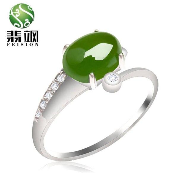 Супер Флэш полноценно Зеленый Нефрит Кольцо 925 Серебряный Изысканный Anillos Женщины Обручальное Ювелирные Изделия Женский Свадьба Палец