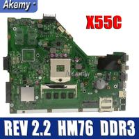 Amazoon X55C 2GB RAM Mainboard REV 2.2 For ASUS X55C X55VD X55V X55CR Laptop Motherboard SLJ8E HM76 DDR3 100% Test Free Shipping