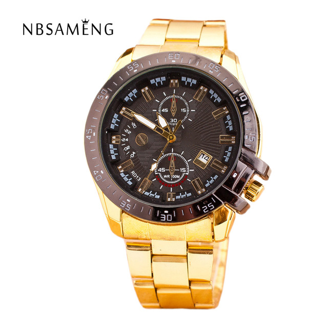 Quartz Gold Watch Men Luxury Brand Top Rose Golden Watches Women Ladies Women Clock Men Famous Casual Fashion Wristwatch LZ142