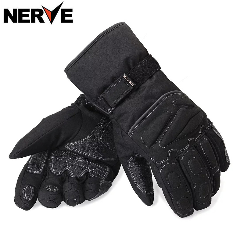 NERVE Motorcycle Motorcross Gloves winter Waterproof Windproof Protective Cotton Gloves breathable Non-slip, Motorbike gloves 100% waterproof authentic germany nerve kq 019 leather motorcycle gloves cross country knight glove winter warm breathable