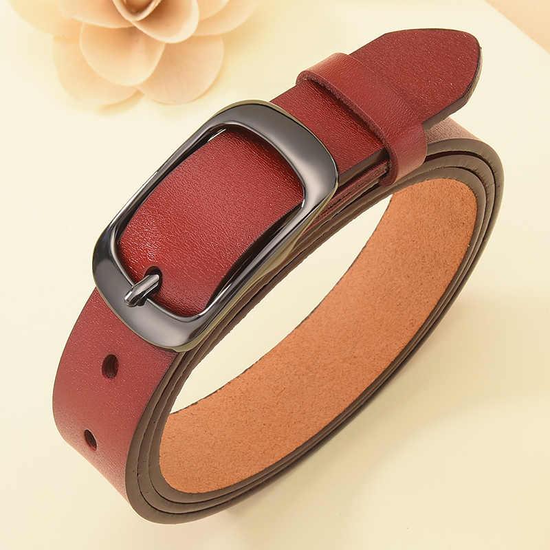 DINISITON חדש נשים אמיתי עור חגורת רצועה מזדמן כל משחק גבירותיי מתכוונן חגורות מעצב באיכות גבוהה מותג