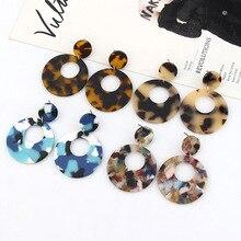 2019 Hot Popular Acrylic Drop Earrings For Women Leopard Oval Round GeometricFashion Jewelry Brincos Gift